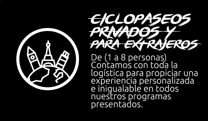 Ciclopaseos privados y extranjeros